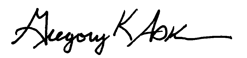 Dr. Gregory K. Adkins Signature