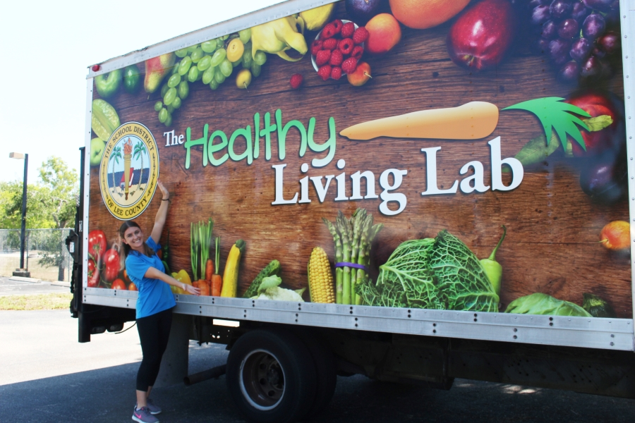 Photograph of Healthy Living Lab truck